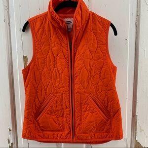 Old Navy Orange Quilted Vest
